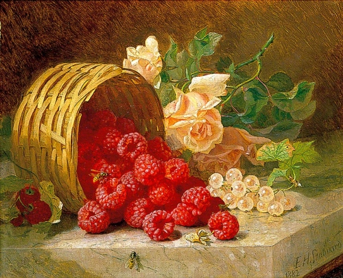 Painting Raspberries Roses by Eloise Harriet Stannart.jpg