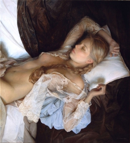 Serge Marshennikov Painting Women in Love 1.jpg